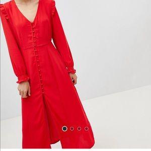 Asos midi button down dress